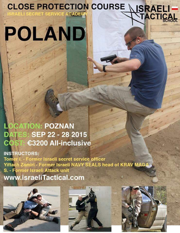 Dal 22/9 al 28/9 2015 Close protection course & covert